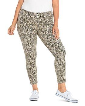 SLINK Jeans Plus - Skinny Jeans in Camo Leopard