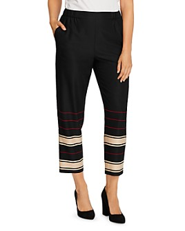 VINCE CAMUTO - Linear Planes Slim Ankle Pants