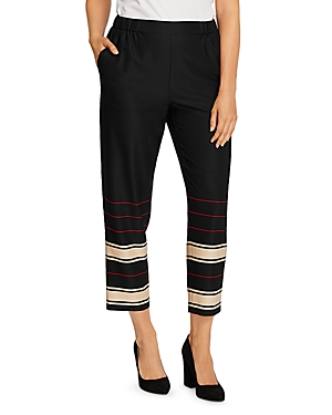 Vince Camuto Linear Planes Slim Ankle Pants-Women