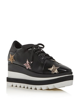 Stella McCartney - Women's Platform Wedge Low-Top Sneakers