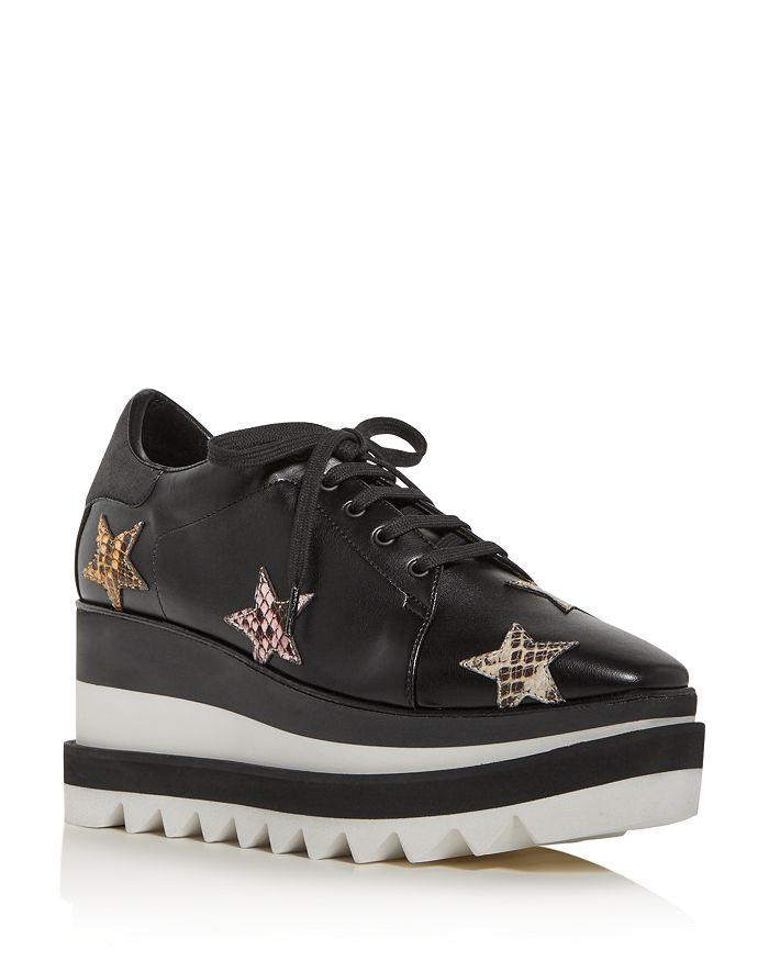 Stella McCartney - Women's Platform Wedge Low-Top Sneakers