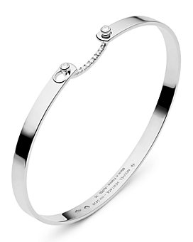 Nouvel Heritage - 18K White Gold Business Meeting Mood Diamond Bangle Bracelet