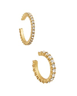 BAUBLEBAR - Claudia Glass Stone Cuff Earrings, Set of 2