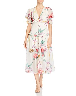 Keepsake - About Us Floral-Print Midi Dress