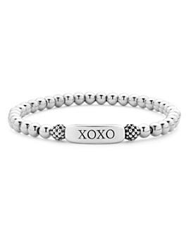 LAGOS - Sterling Silver Signature Caviar XOXO Station Bracelet
