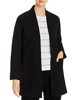 Eileen Fisher Petites - Textured Notch-Collar Open-Front Jacket - 100% Exclusive