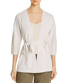 Eileen Fisher Petites - Silk & Organic Cotton Belted Cardigan