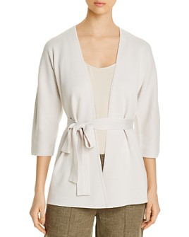 Eileen Fisher Petites - Cotton Belted Cardigan