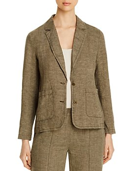 Eileen Fisher Petites - Organic Linen Two-Button Blazer