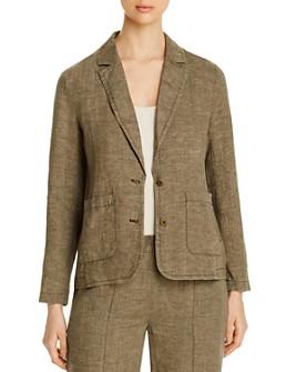 Eileen Fisher Petites - Organic Linen Two-Button Blazer