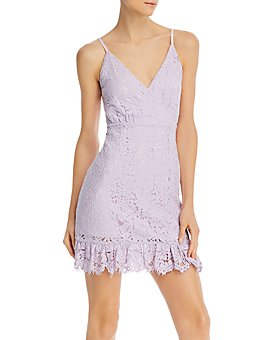 AQUA - Lace Sleeveless Ruffled Dress - 100% Exclusive