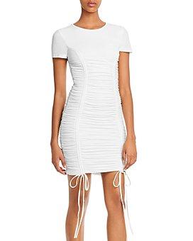 Tiger Mist - Trinity Ruched Drawstring Mini Dress