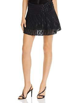 Ramy Brook - Jenny Metallic Pleated Mini Skirt