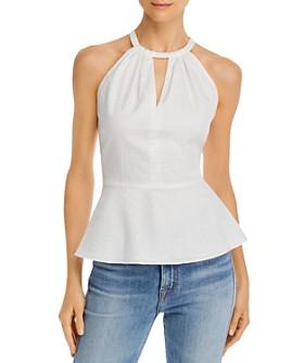 Parker - Tie-Back Cotton Halter Top - 100% Exclusive