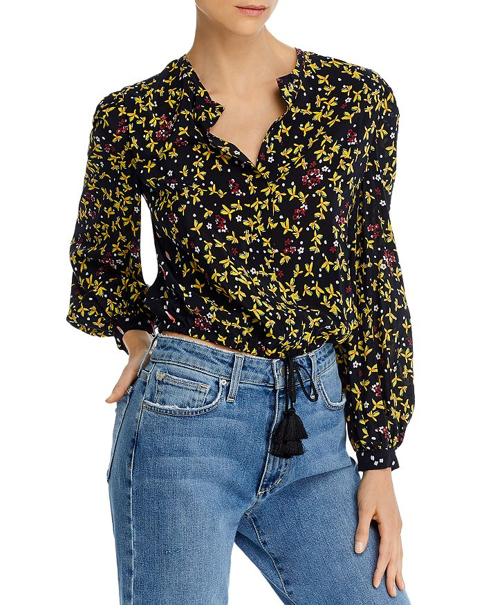 Derek Lam 10 Crosby - Aster Printed Cropped Blouse