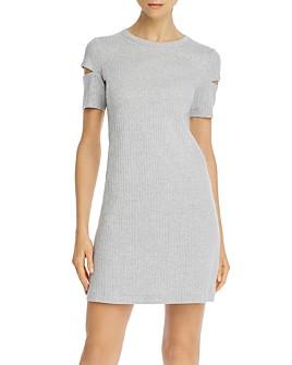 Helmut Lang - Ribbed Cutout Mini Dress
