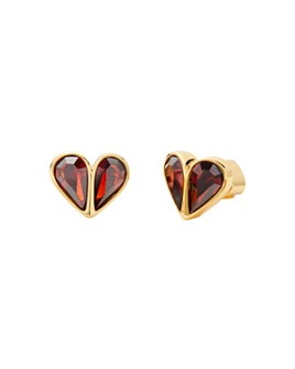 kate spade new york - Rock Solid Stone Small Heart Stud Earrings