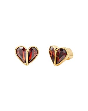Kate Spade KATE SPADE NEW YORK ROCK SOLID STONE SMALL HEART STUD EARRINGS