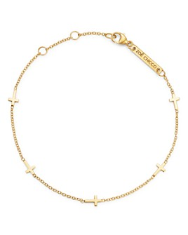 Zoë Chicco - 14K Gold Itty Bitty Cross Bracelet
