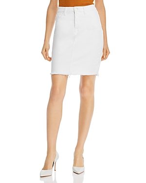 by 7 For All Mankind Frayed Hem Pencil Skirt