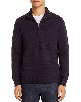 Billy Reid - Quilted Half-Zip Sweater