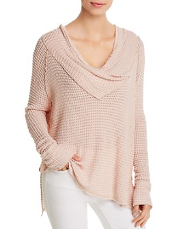 Elan - Crossover Cowl Neck Sweater