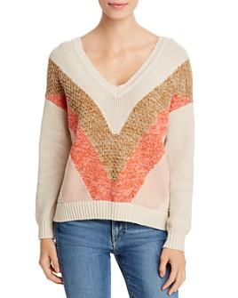 Vero Moda - Color-Block V-Neck Sweater