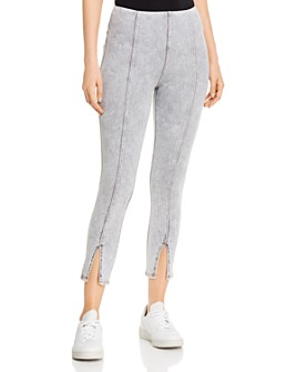 Lyssé - Evelyn Split-Hem Jeans in Light Gray