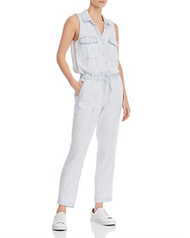 Bella Dahl - Sleeveless Button Front Jumpsuit