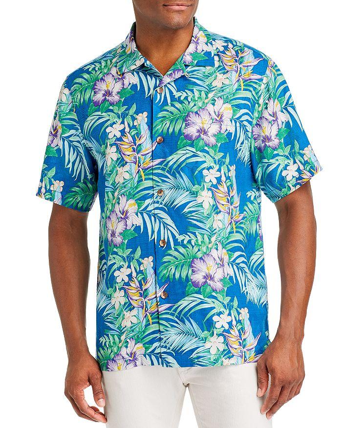 Tommy Bahama - Hilo Gardens Regular Fit Short-Sleeve Silk Shirt