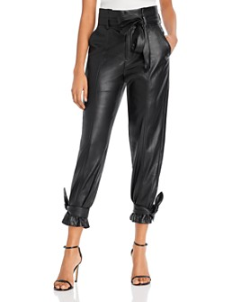 Lucy Paris - Faux Leather Ankle Tie Pants - 100% Exclusive