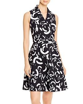 T Tahari - Fit & Flare Midi Dress