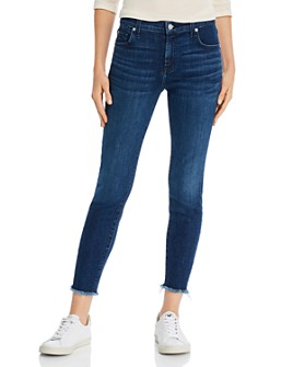 7 For All Mankind - The Ankle Skinny Jeans in Luxe Vintage Dark Indigo