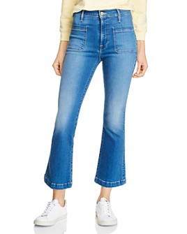 FRAME - Le Bardot Crop Flare Jeans in Madera Prim
