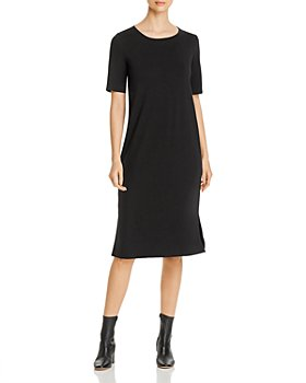 Eileen Fisher Petites - Side-Slit Midi Dress