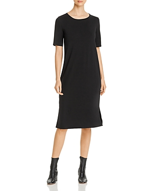 Eileen Fisher Petites Side-Slit Midi Dress
