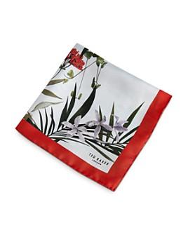 Ted Baker - Silk Floral Print Pocket Square