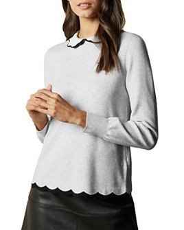 Ted Baker - Scallop-Detail Long-Sleeve Top
