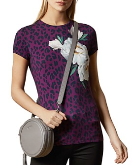 Ted Baker - Floral-Detail Animal-Print Top