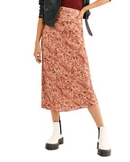 Free People - Normani Animal-Print Midi Skirt