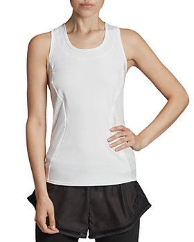 adidas by Stella McCartney - Essentials Mesh-Inset Racerback Tank