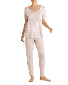 Hanro - Laura Short Sleeve Long Pajama Set