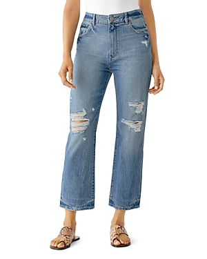 DL1961 Jerry Vintage Cotton Cropped Straight Jeans in Buford