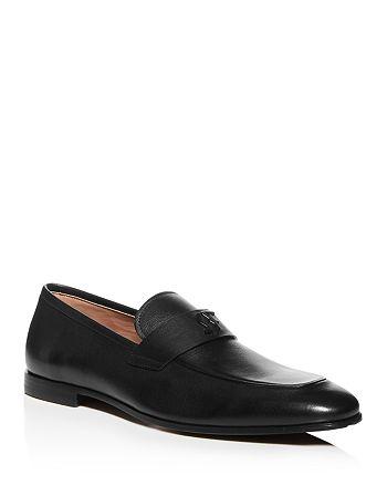 Salvatore Ferragamo - Men's Silas Leather Apron-Toe Loafers