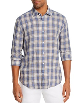 The Men's Store at Bloomingdale's - Linen Tri-Color Plaid Classic Fit Shirt - 100% Exclusive