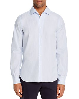 The Men's Store at Bloomingdale's - Bengal Stripe Cotton-Blend Classic Fit Shirt - 100% Exclusive