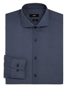 BOSS - Jason Circle-Print Slim-Fit Dress Shirt