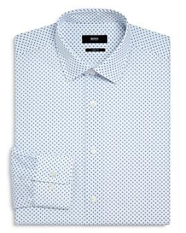 BOSS - Marley Broken-Dot Regular-Fit Dress Shirt