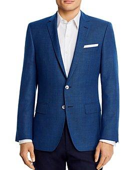 BOSS - Hutsons Wool Textured Blue Slim Fit Sportcoat