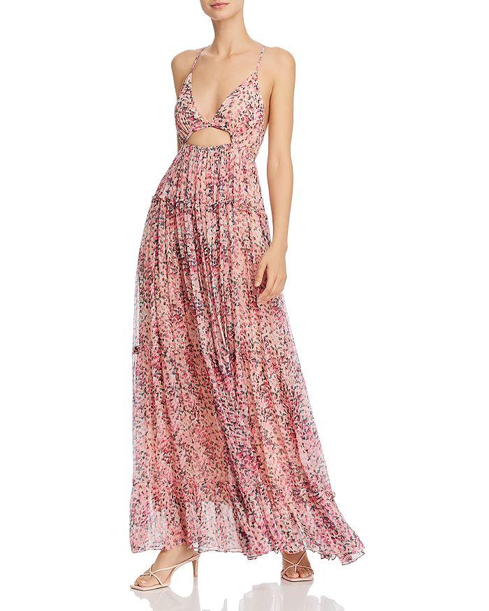 Rococo Sand - Printed Cutout-Waist Dress